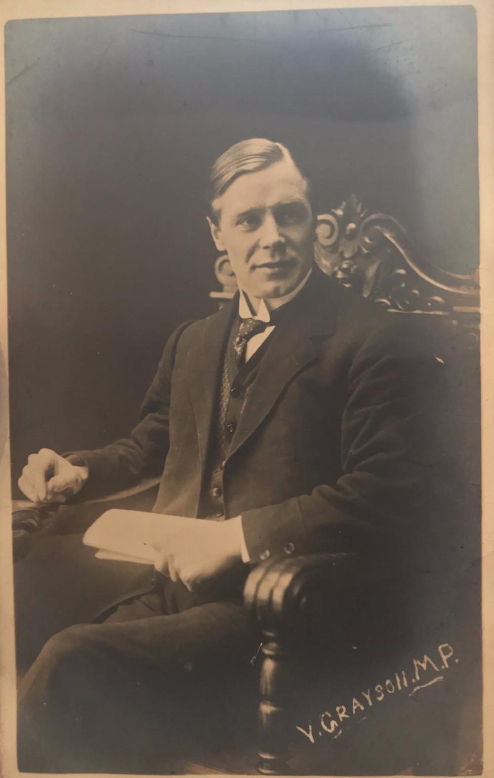 Postcard of Victor Grayson MP